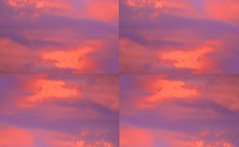 After a Summer Thunderstorm 2 By Sherrie D. Larch (sherrielarch) Tags: orange clouds purple thunderstorm summertime digitalphotography digitallyaltered orangeandpurple malinoregon sherrielarch sunsetonthunderstormclouds