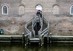 The other side of the wall (CosmoClicky) Tags: wall stairs fortification keyhole muur heusden cosmoclicky