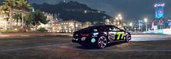 Forza Horizon 2 RS7 Pano (KiroKai Photography) Tags: 2 rain festival night lights evening town horizon forza parked audi 3000 gumball castelletto rs7