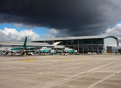 Ominous weather (Flame1958) Tags: travel vacation dublin cloud holiday weather clouds flying 330 airbus dub aerlingus a330 darkclouds badweather darkcloud dublinairport 2016 0416 eidw aerlingusa330 290416