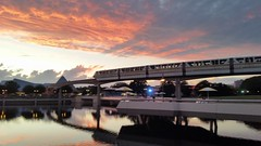 20151001_192238 (Passport to the Parks) Tags: sunset epcot dusk monorail