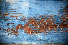 (John Donges) Tags: blue brick philadelphia wall peeling paint industrial factory warehouse exposed 4076 graysferryavenue
