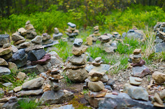 Cairns (a_byle) Tags: nature outdoors rocks hiking manmade cairn