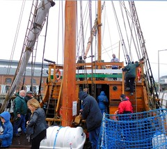 Matthew (5) (goweravig) Tags: uk swansea wales ship matthew replica sail carvel sailingship quarterdeck swanseadocks