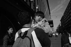 Street scenes (HKI DRFTR) Tags: life urban blackandwhite monochrome face contrast helsinki child expression streetphotography tones