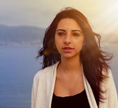(Andrea Presti) Tags: woman sun girl photoshop 35mm canon lens eos women ps lensflare flare 100d