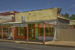 Rupanyup Cafe (phunnyfotos) Tags: phunnyfotos australia victoria vic wimmera rupanyup shop cafe closed rural countrytown veranda verandah mainstreet nikon d750 nikond750 summer cocacola footpath sidewalk pavement streets milkbar store