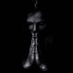 8 (bridgeburner138) Tags: square portrait insanity art artistic madness blackandwhite monochrome prayer hope