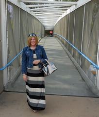 Maxi Dress (krislagreen) Tags: black dress cd femme gray tgirl transgender jacket purse blond transvestite crossdress maxi metalic tg feminization feminized