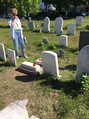 20160618_2602 (Spirits Alive at the Eastern Cemetery) Tags: by headstone conservation h janet marble huston doggett 2016 easterncemetery spiritsalive 20160618