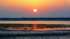 Sunset at Arabian Sea (NA.dir) Tags: travel sunset sea work arabian j1 jamnagar nikon1