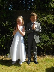 Kayleigh Winder and Martin Horan celebrating their First Holy Communion (ballymorebugle) Tags: ballymorebugleballymoreeustace kildare ireland
