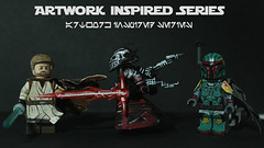 Artwork Inspired Series - Group Shot #1 (TheCampervanTom) Tags: star lego ren boba wars custom figures fett obiwan kylo