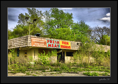 Fresh Produce (the Gallopping Geezer 3.6 million + views....) Tags: county building abandoned sign mi rural canon market decay michigan pauls structure fresh meat faded worn signage weathered produce minimart derelict hdr decayed geezer 24105 2016 genessee mtmorris 5ds
