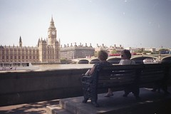 The good seats, on film (Sarah-Louise Burns) Tags: camera city london 35mm vintage housesofparliament bigben retro analogue halina