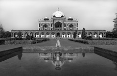 Humayun's Tomb thru my eyes (k.subhas@gmail.com) Tags: old longexposure bw india white motion black heritage love tourism monument monochrome composition landscape tour fort delhi tomb wide lifestyle mosque architectural unesco filter nd wife incredible ultra emperor humayun mughal dargah
