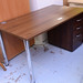 Walnut desk straight