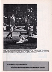 Switzerland vs England - 1981 - Page 43 (The Sky Strikers) Tags: world england cup st schweiz switzerland official basel 150 jakob fr programme offizielles programm qualifier fussballstadion