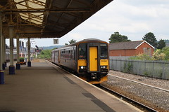 153368 (matty10120) Tags: dog train box railway class devon newton abbot 153 sprinter