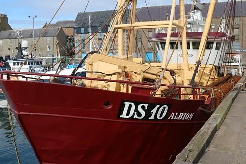 21st April 2016. Albion DS10 in Peterhead Harbour, Aberdeenshire, Scotland