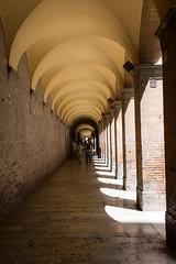 langer Gang (grasso.gino) Tags: italien light shadow italy way licht nikon long italia gang urbino schatten lang marche marken teatrosanzio d5200