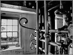 Crofton_2016_2 (johnzsv) Tags: england blackandwhite monochrome m1 engine machine olympus steam beam pump controls wiltshire em1 crofton pumpingstation beamengine