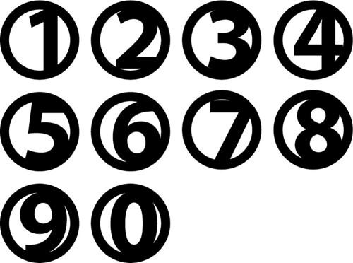 circle numbers
