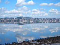 More reflections (nz_willowherb) Tags: weather scotland fife dundee calm estuary tay lowwater highpressure wormit skyscapesreflections