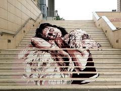 Anna Magnani (collage42 Pia M.-Vittoria S.//) Tags: streetart roma stairs escaleras scalinata diav daviddiavvecchiato