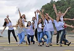 These ballerinas were performing at the beach.... click, click! And they made a reverence to my camera!... (EXPLORED) (Maria Luiza S) Tags: people ballet praia beach dancers explore santos ballerinas bailarinas danarinas emissriosubmarino