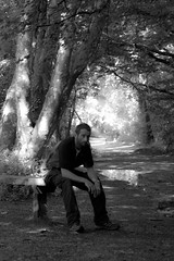 On the bench (richardsolway) Tags: sitting bench selfie woods chilling tehidy park thoughts alone me