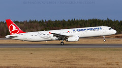 THY A321 Rotation. (spencer.wilmot) Tags: esgg got landvetter airside ramp aviation thy turkishairlines a321 tk tcjrn plane jet jetliner airplane aircraft airliner departure takeoff runway airport airbus rotation rotate liftoff nicelight gothenburg sweden