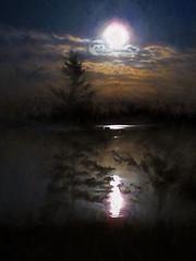 Solstice Moon (Maine Islander) Tags: southernharbor night moon fullmoon hss