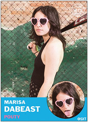 Marisa DeBeast of Pouty (Scott Troyan) Tags: usa philadelphia pa pouty baseballcards scotttroyan everybodyhits marisadebeast
