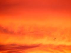 _6262696 (elsuperbob) Tags: sunset sky colors clouds michigan airplanes detroit cloudscape alienworlds
