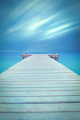 The Pier (Iain Brooks) Tags: ocean sunset sea sky seascape beach water sunrise coast pier spain long exposure mediterranean jetty majorca alcudia iainbphoto