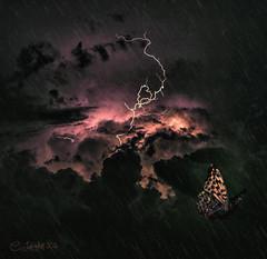 Perseverance768460 (clabudak) Tags: rain weather night butterfly dar dramatic lightening textured