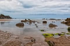 MONKSTONE BEACH (mark_rutley) Tags: wales monkstonebeach beach coast rocks sea tide clouds tenby pembrokeshire