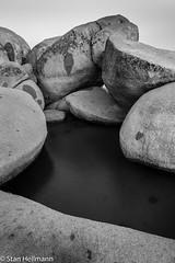 Speedboat Beach (stanhellmann) Tags: blackandwhite nature rockformation