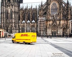 Truck at Roncalliplatz, in front of the Cologne Cathedral, Kln, Germany (PhotosToArtByMike) Tags: colognegermany truck truckthursday cologne germany dom koln klnerdom oldtown rhineriver oldquarterofcologne europe
