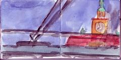 wo waren die Tage geblieben, die uns unendlich erschienen (raumoberbayern) Tags: auto city pink winter bus fall smart car pencil paper munich mnchen landscape herbst tram sketchbook stadt papier landschaft bleistift robbbilder skizzenbuch strasenbahn