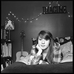 Holly (Molly Castle) Tags: film silver print bedroom interior young indoor personality teenager environment enviroment