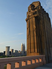 Cleveland, Ohio Skyline and the Guardians of T...