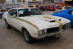 '69 Hurst Olds - Sold (artistmac) Tags: auto people orange white men hardtop 1969 car hammer gold automobile waiting auction inspection performance indiana cameras 69 activity gavel v8 musclecar olds oldsmobile employees hurst inspecting 455 in intermediate auctioneer midsize 2door ndianapolis mecum auctionblock