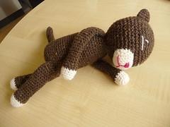 Brown Amineko (christiane_eichler) Tags: cat toy crochet katze spielzeug deko stuffie stofftier amineko haekeln nekoyama
