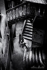 Alone (arkadutta) Tags: stairs alone lonely kolkata nakhodamasjid