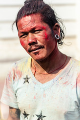 27_holi_1568_2013_03_26 (Andrew Taylor Photography) Tags: nepal portrait people man colour festival celebration kathmandu subject colourful festivity holi durbarsquare happyholi basantapurdurbarsquare colouredpowder playholi