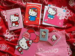 A selection of Hello Kitty greetings cards (Jay Tilston) Tags: hello john kitty lewis next sanrio card ms greetings stationery licenced