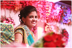 The Reception smiles (Arvind Ramachander) Tags: wedding beautiful bride big dress bokeh candid fat indian south traditional smiles grand reception hyderabad lehnga