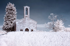 2013_06_19_1330 (Eterni in rete (mmoretti73)) Tags: trees church alberi ir wheat infrared 1740mm grano chiesetta 40dir